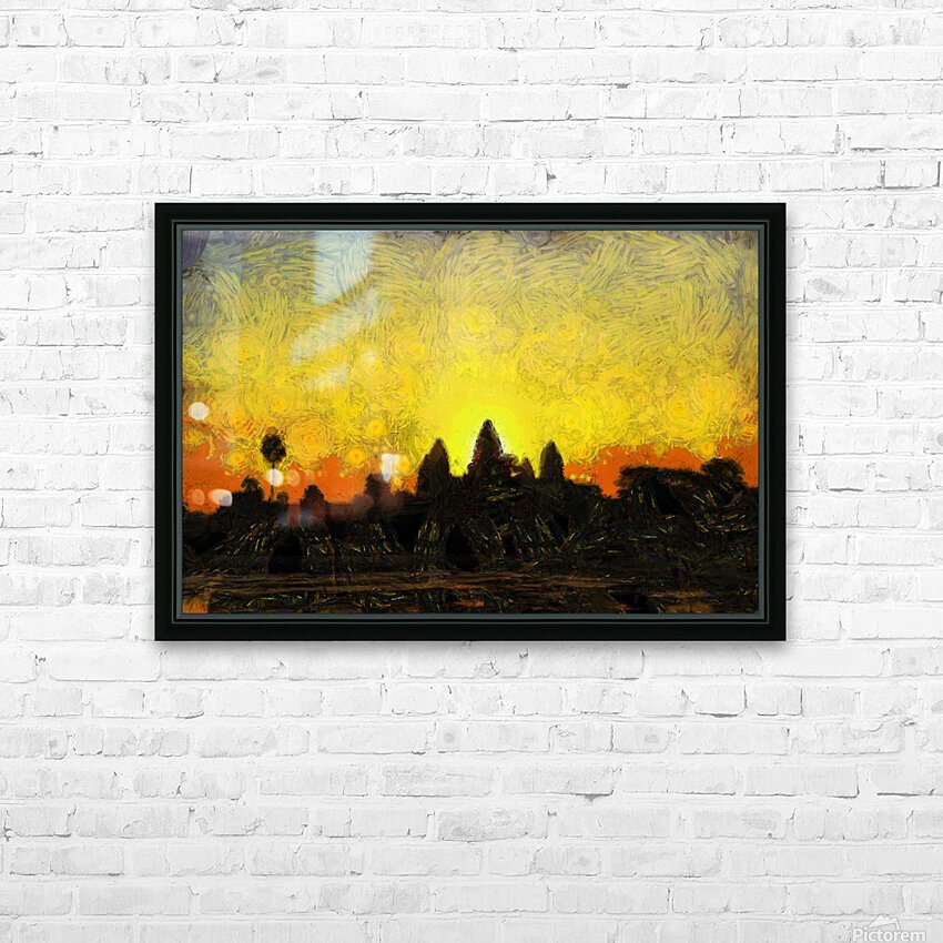 CAMBODIA 136 Angkor Wat  Siem Reap VincentHD HD Sublimation Metal print with Decorating Float Frame (BOX)