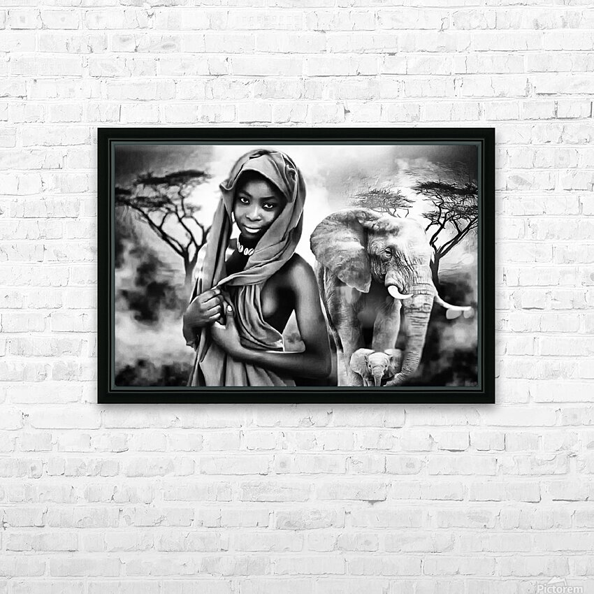 africa 2 HD Sublimation Metal print with Decorating Float Frame (BOX)