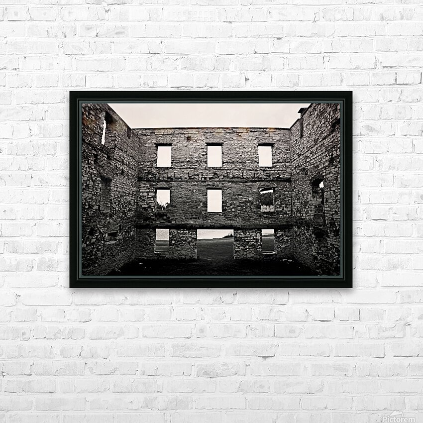 Stone Structure HD Sublimation Metal print with Decorating Float Frame (BOX)