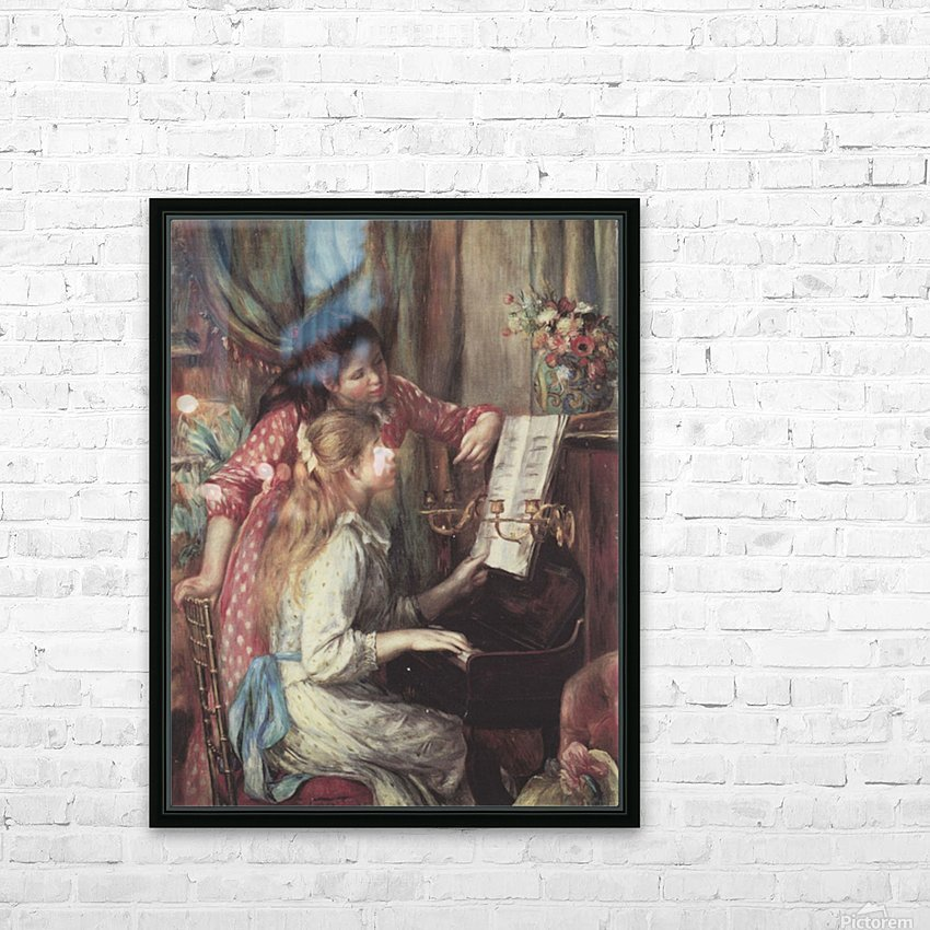 Two Young Girls at the Piano Pierre-Auguste Renoir Impressionist Canvas 18x24