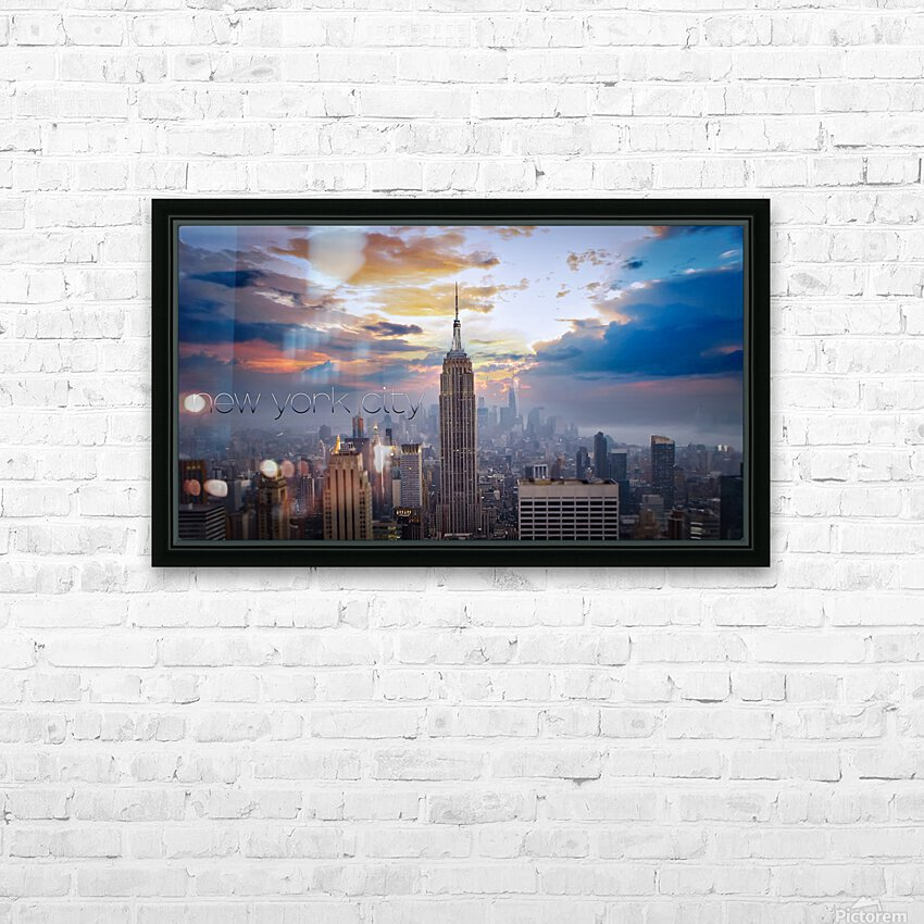 Empire HD Sublimation Metal print with Decorating Float Frame (BOX)