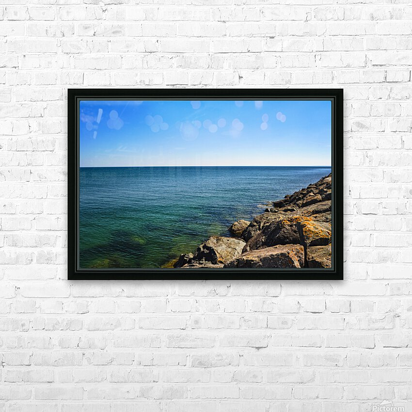 Tranquil Waters HD Sublimation Metal print with Decorating Float Frame (BOX)