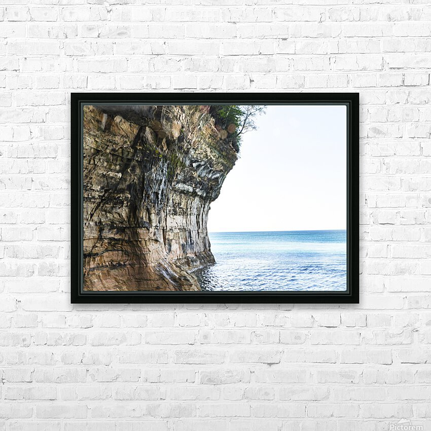 Land Meets Water HD Sublimation Metal print with Decorating Float Frame (BOX)