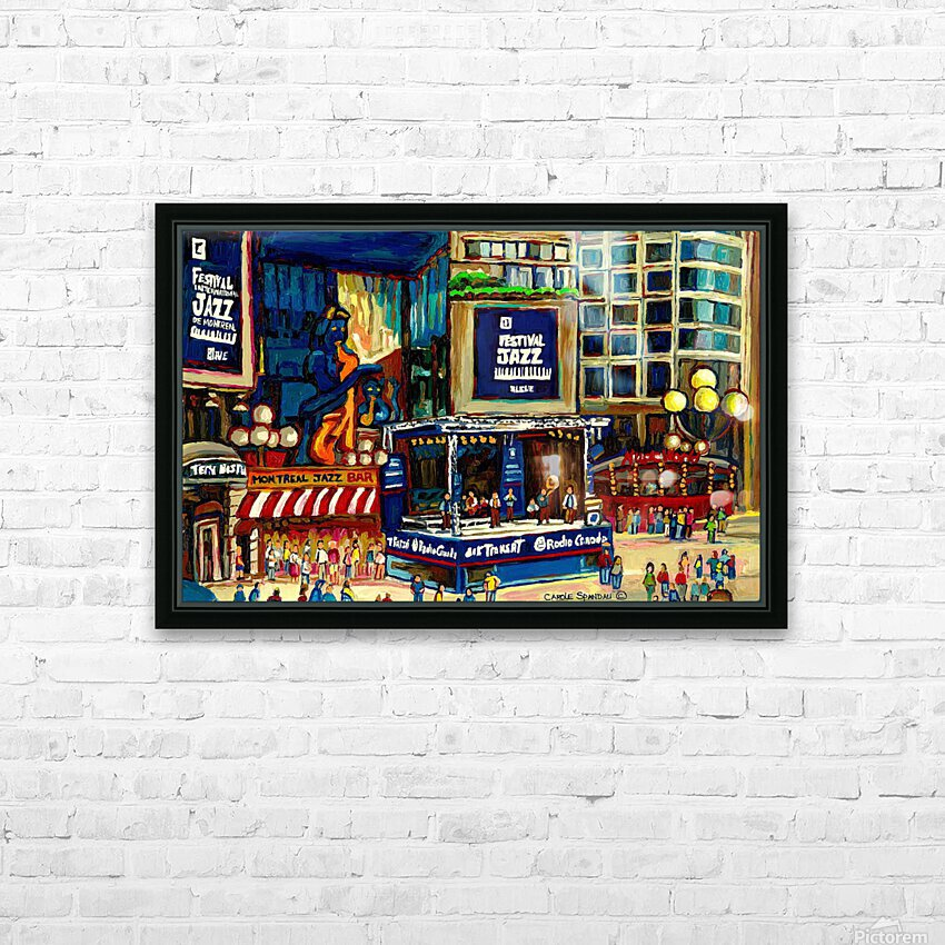 MONTREAL JAZZ FESTIVAL SUMMER EVENT HD Sublimation Metal print with Decorating Float Frame (BOX)