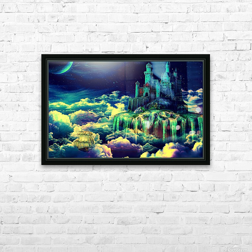 Castle In The Clouds HD Sublimation Metal print with Decorating Float Frame (BOX)