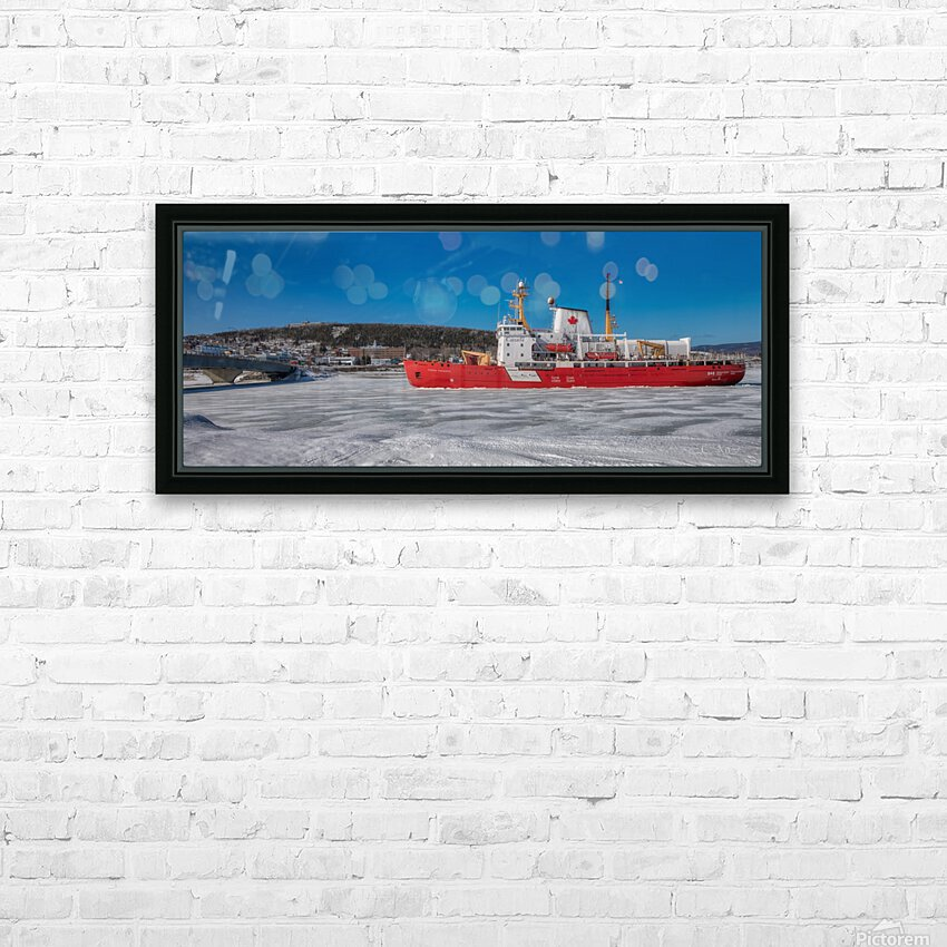 Le Pierre Radisson a Gaspe HD Sublimation Metal print with Decorating Float Frame (BOX)