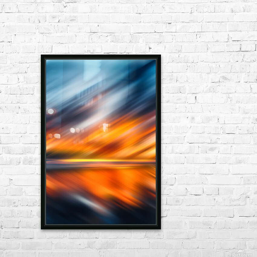 Abstract Movement XXXV HD Sublimation Metal print with Decorating Float Frame (BOX)