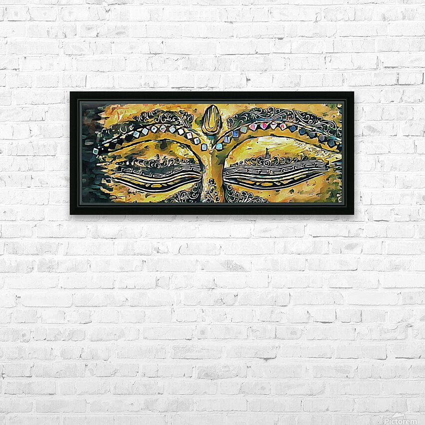 Eyes of Buddha HD Sublimation Metal print with Decorating Float Frame (BOX)