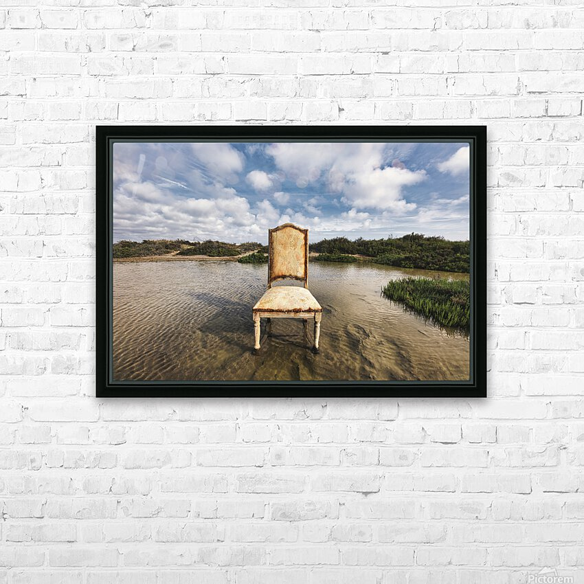 Chair in a pool of water - color version HD Sublimation Metal print with Decorating Float Frame (BOX)