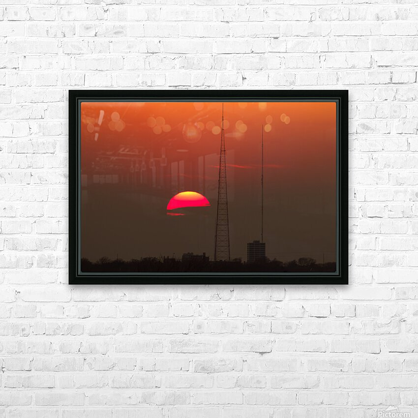 KCMO Tower Sunset  HD Sublimation Metal print with Decorating Float Frame (BOX)