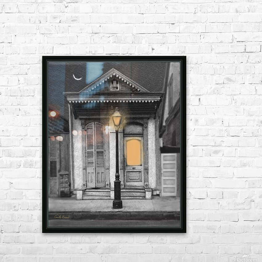 French Quarter Lamp Light HD Sublimation Metal print with Decorating Float Frame (BOX)