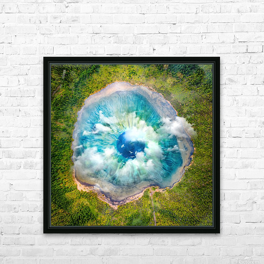 Dream Art XIX Surreal Eye Lake HD Sublimation Metal print with Decorating Float Frame (BOX)