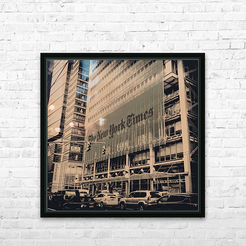 New York Times HD Sublimation Metal print with Decorating Float Frame (BOX)