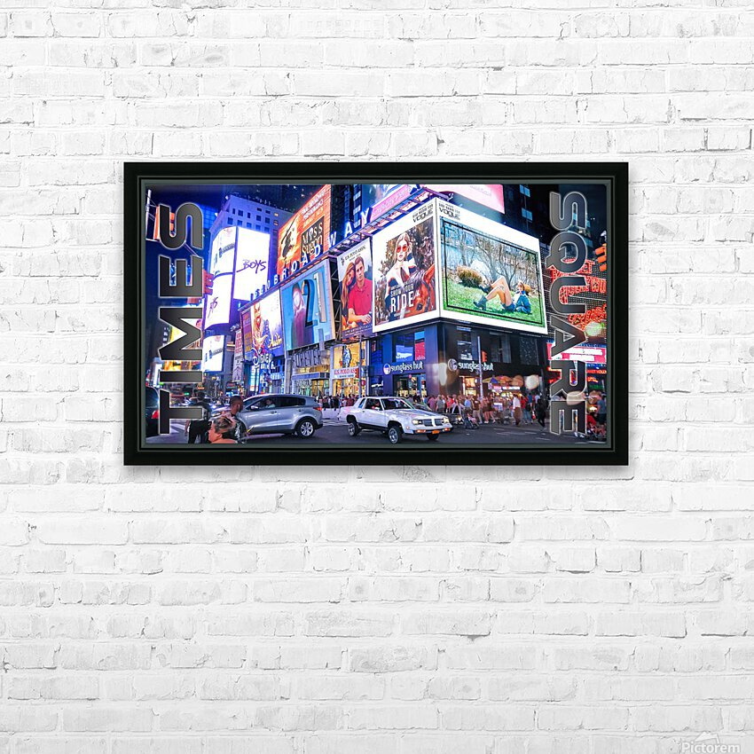 Times Square  HD Sublimation Metal print with Decorating Float Frame (BOX)