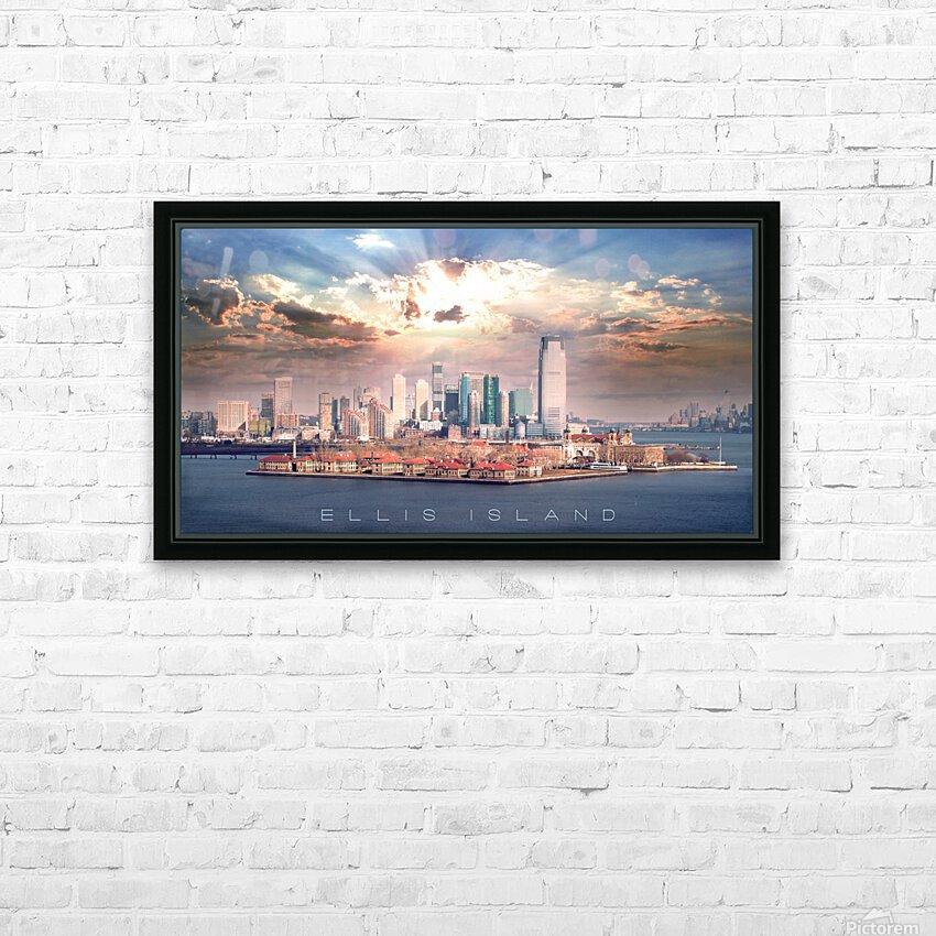 Ellis Island HD Sublimation Metal print with Decorating Float Frame (BOX)