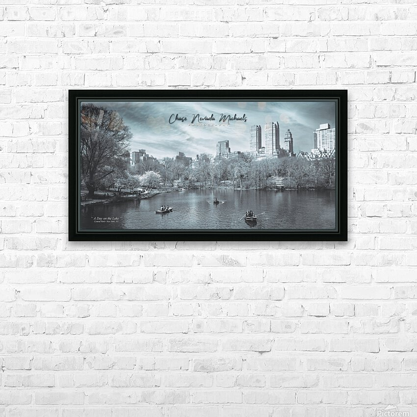 On The Lake HD Sublimation Metal print with Decorating Float Frame (BOX)