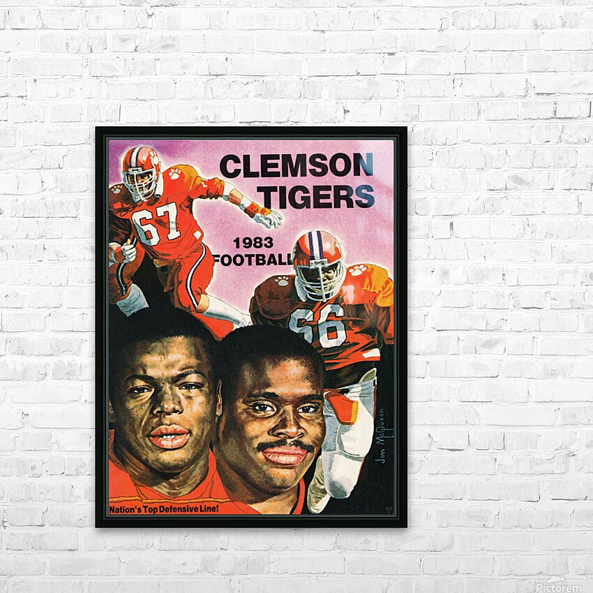 1983 Clemson Tigers Football Poster HD Sublimation Metal print with Decorating Float Frame (BOX)