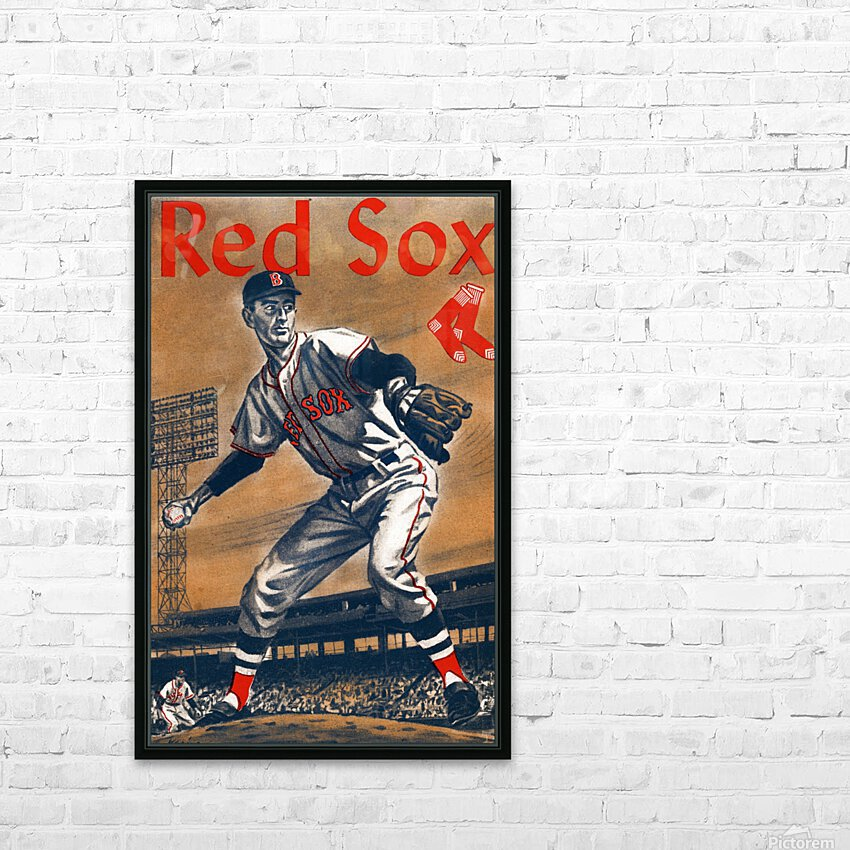 1960 Boston Red Sox Remix Art HD Sublimation Metal print with Decorating Float Frame (BOX)
