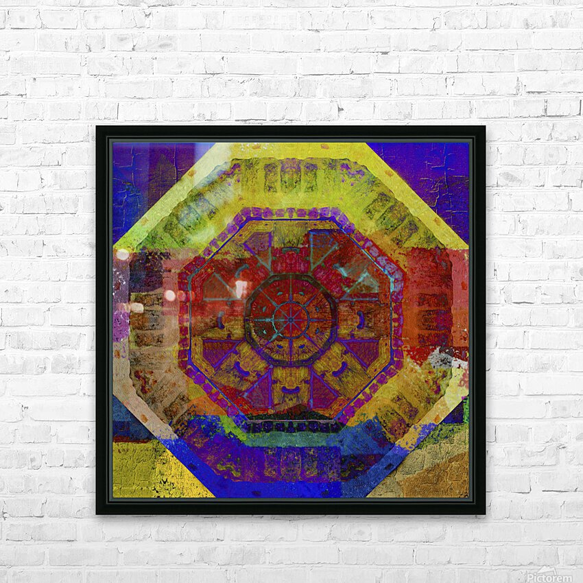 Aztec Dreaming HD Sublimation Metal print with Decorating Float Frame (BOX)