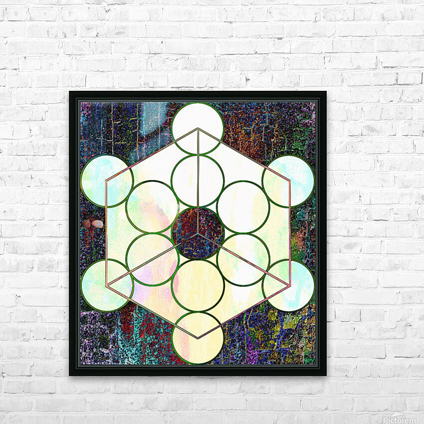 Experiments With Geometry 7 HD Sublimation Metal print with Decorating Float Frame (BOX)