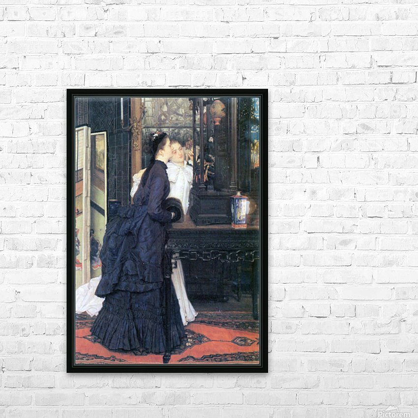 Young women with Japanese goods by Tissot HD Sublimation Metal print with Decorating Float Frame (BOX)