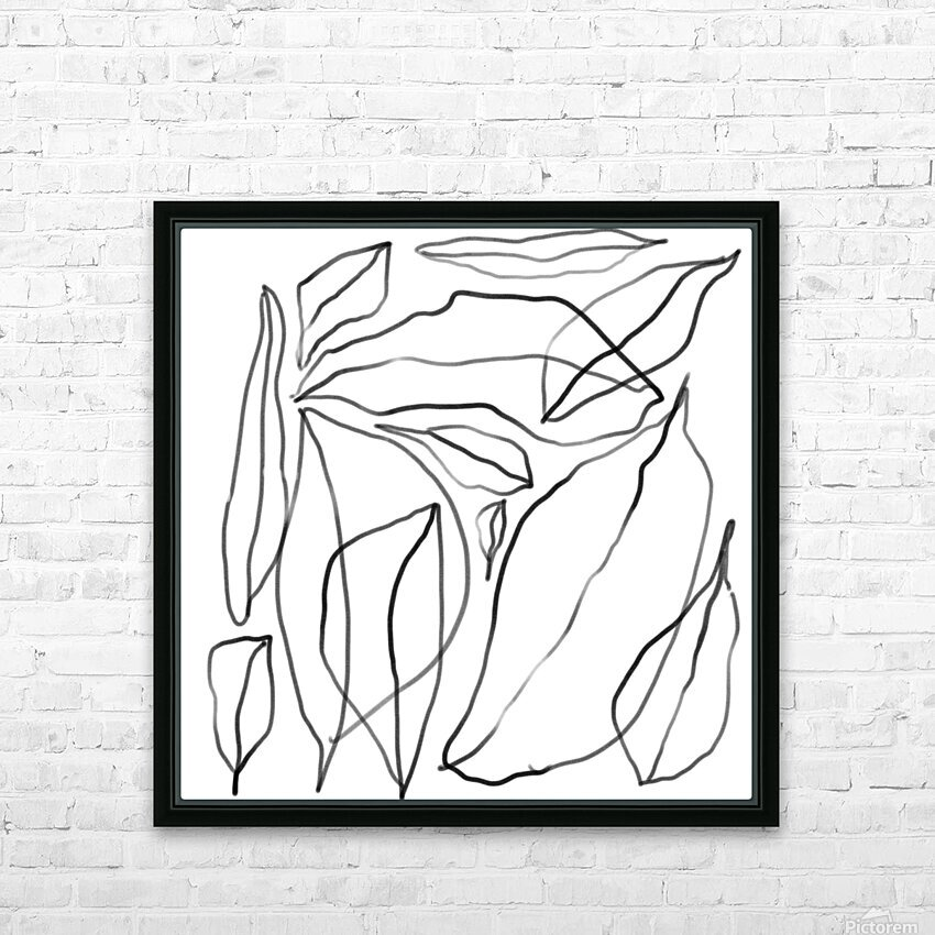 Leaves HD Sublimation Metal print with Decorating Float Frame (BOX)