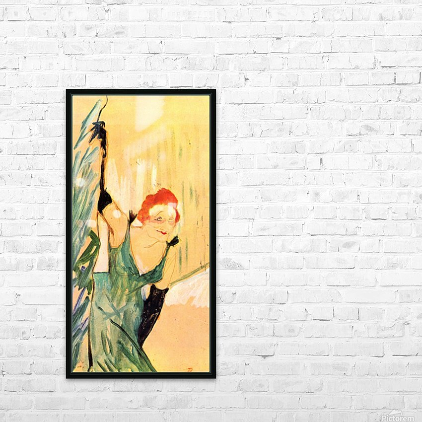 Yvette Guilbert greets the Audience by Toulouse-Lautrec HD Sublimation Metal print with Decorating Float Frame (BOX)