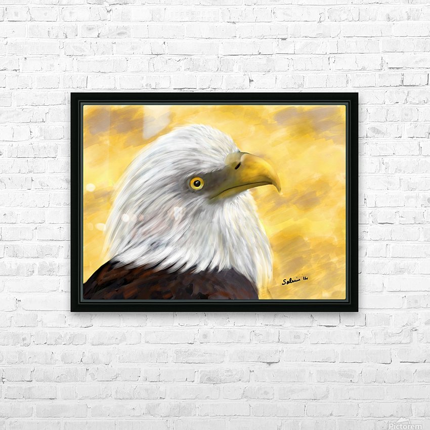 Proud Eagle HD Sublimation Metal print with Decorating Float Frame (BOX)