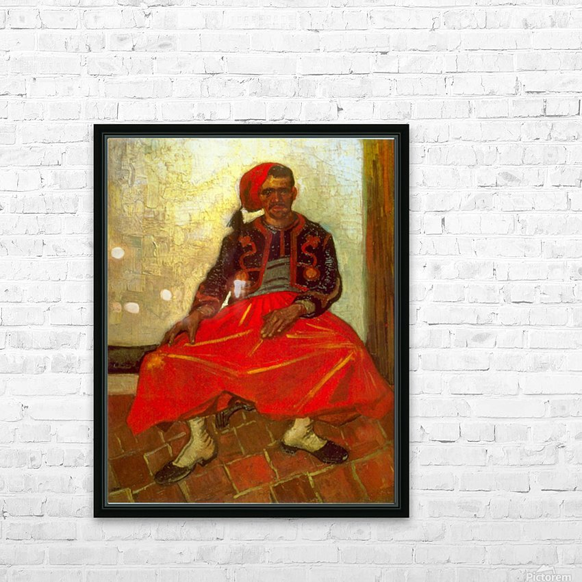 Zouave by Van Gogh HD Sublimation Metal print with Decorating Float Frame (BOX)