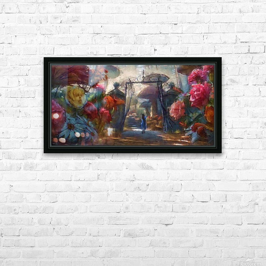 Flowers of Wonderland HD Sublimation Metal print with Decorating Float Frame (BOX)