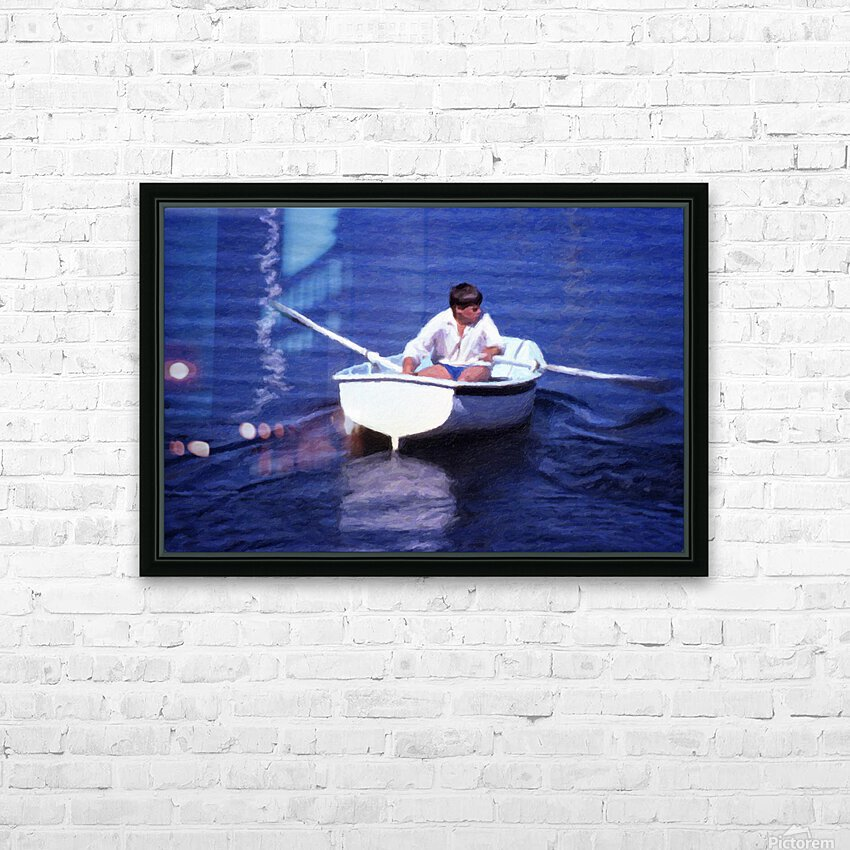 Rower HD Sublimation Metal print with Decorating Float Frame (BOX)