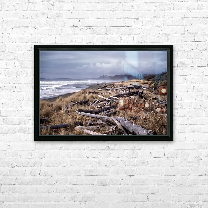 Beached Driftlogs HD Sublimation Metal print with Decorating Float Frame (BOX)