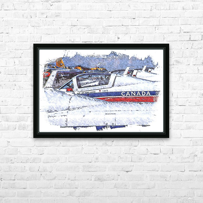 Canadian Snowbirds HD Sublimation Metal print with Decorating Float Frame (BOX)
