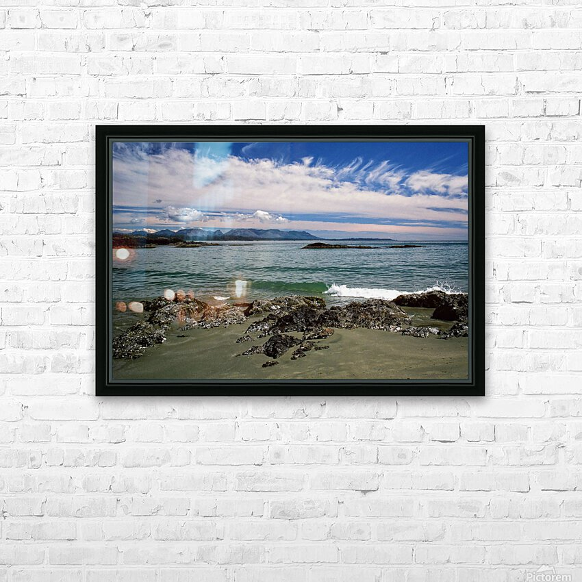 Peaceful Pacific Beach HD Sublimation Metal print with Decorating Float Frame (BOX)