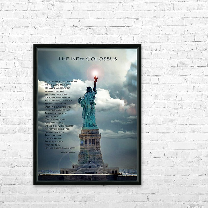 New Colossus HD Sublimation Metal print with Decorating Float Frame (BOX)
