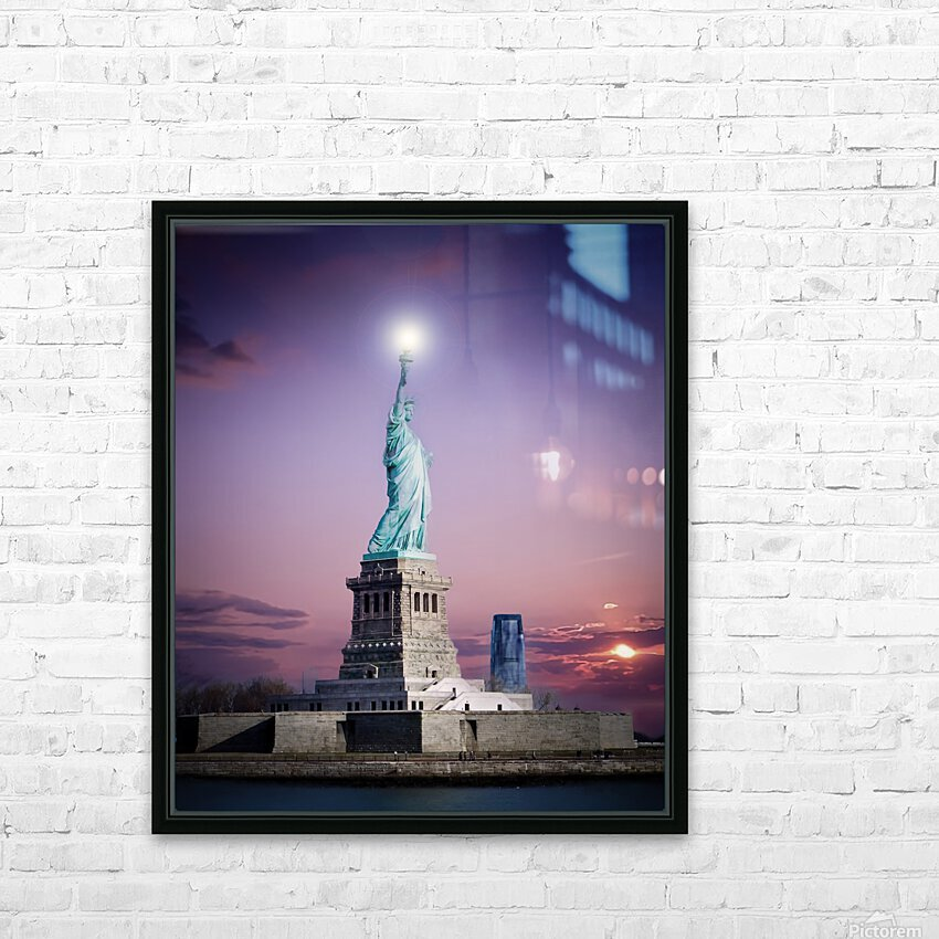 Liberty1 HD Sublimation Metal print with Decorating Float Frame (BOX)