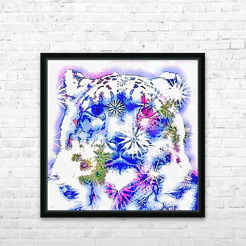 Spirit of the Snow Leopard  HD Sublimation Metal print with Decorating Float Frame (BOX)