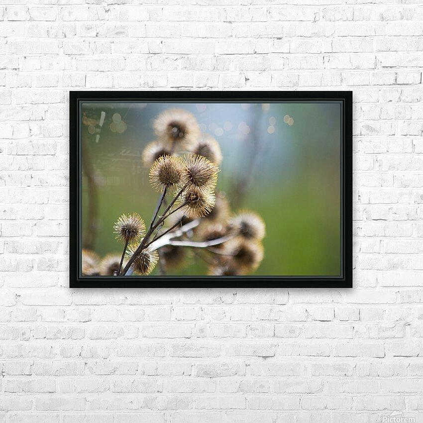 Burdock Bouquet HD Sublimation Metal print with Decorating Float Frame (BOX)