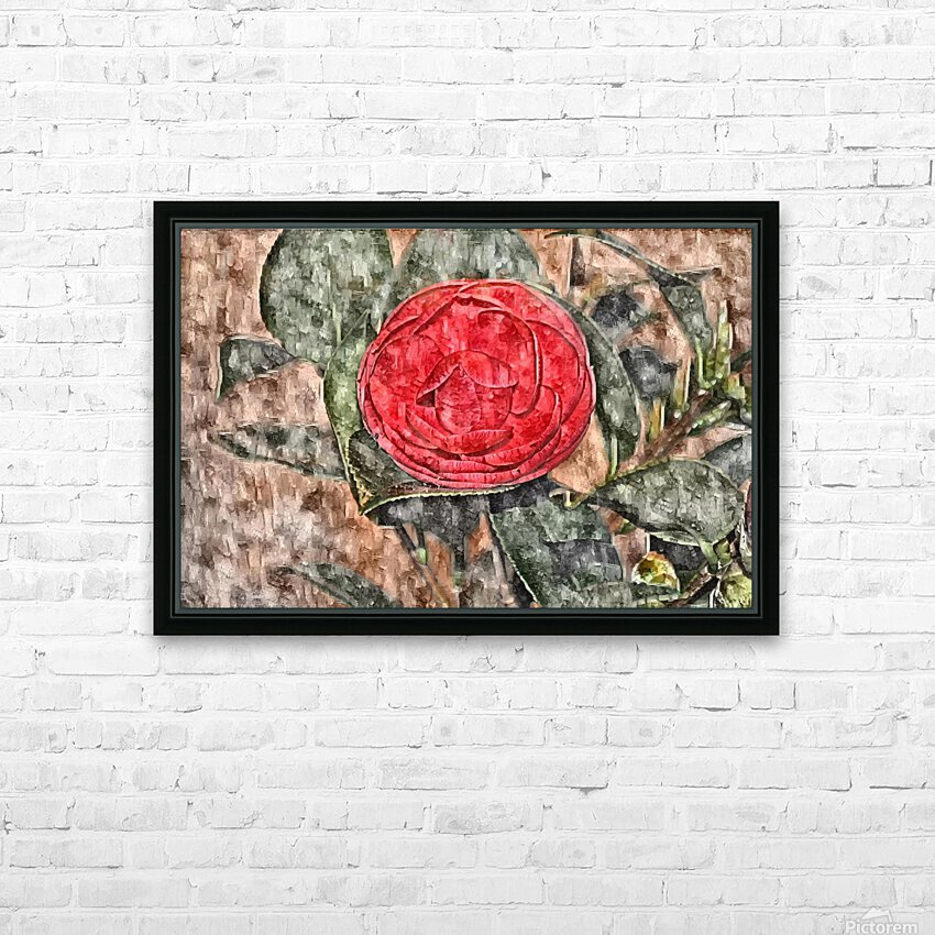 Camelia Blossom 11 HD Sublimation Metal print with Decorating Float Frame (BOX)