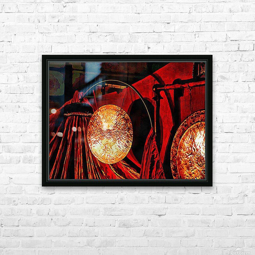 Energy Of Gongs HD Sublimation Metal print with Decorating Float Frame (BOX)