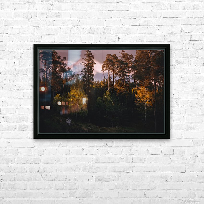 Morning forest HD Sublimation Metal print with Decorating Float Frame (BOX)
