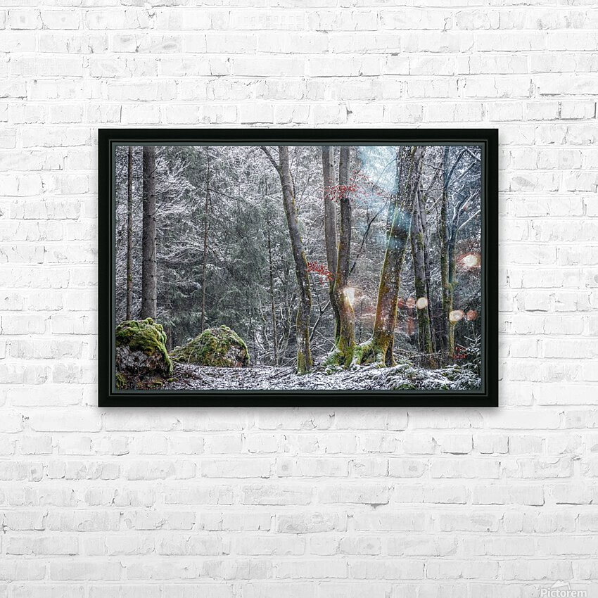 Winter forest HD Sublimation Metal print with Decorating Float Frame (BOX)