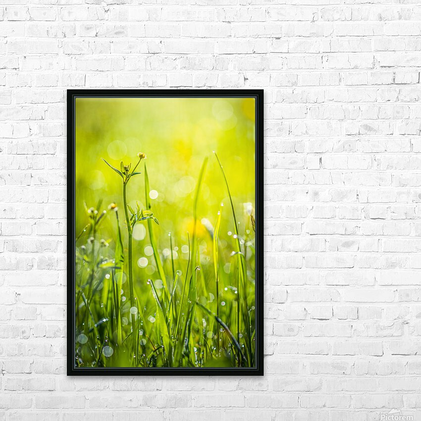 Summer meadow HD Sublimation Metal print with Decorating Float Frame (BOX)