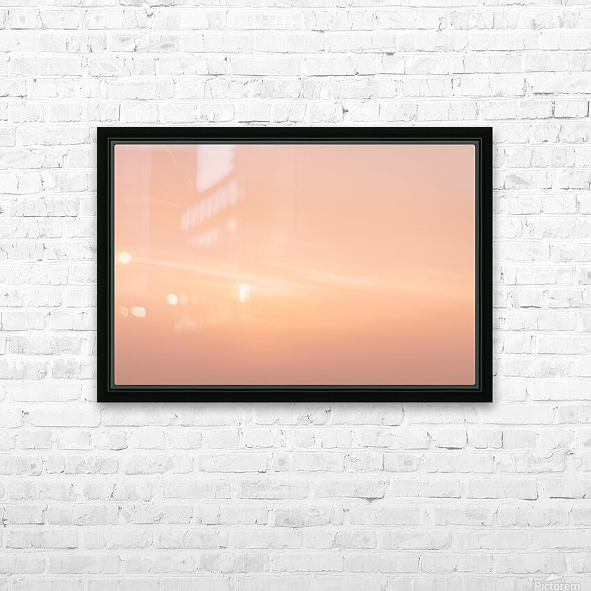 Pastel clouds HD Sublimation Metal print with Decorating Float Frame (BOX)