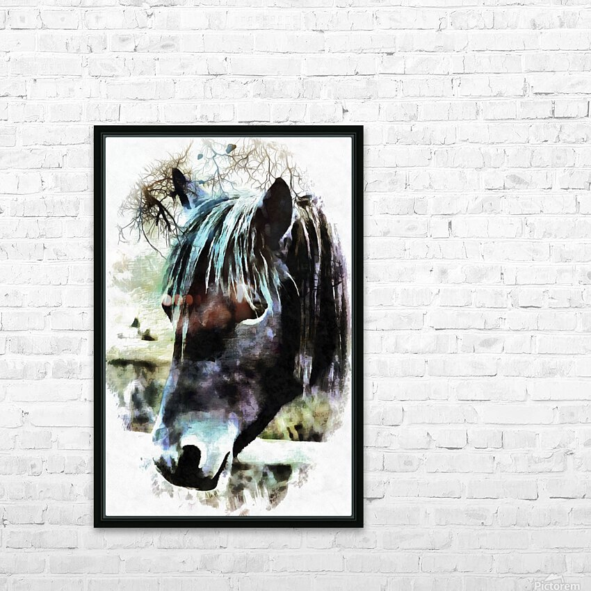 Horse Spirit Guide HD Sublimation Metal print with Decorating Float Frame (BOX)