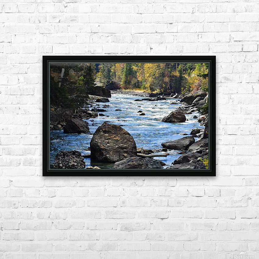 Babbling Brook HD Sublimation Metal print with Decorating Float Frame (BOX)