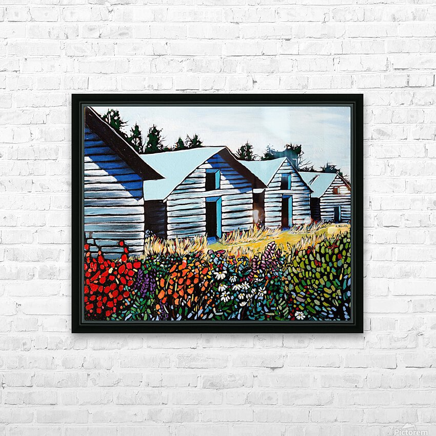 Summer on the Farm HD Sublimation Metal print with Decorating Float Frame (BOX)