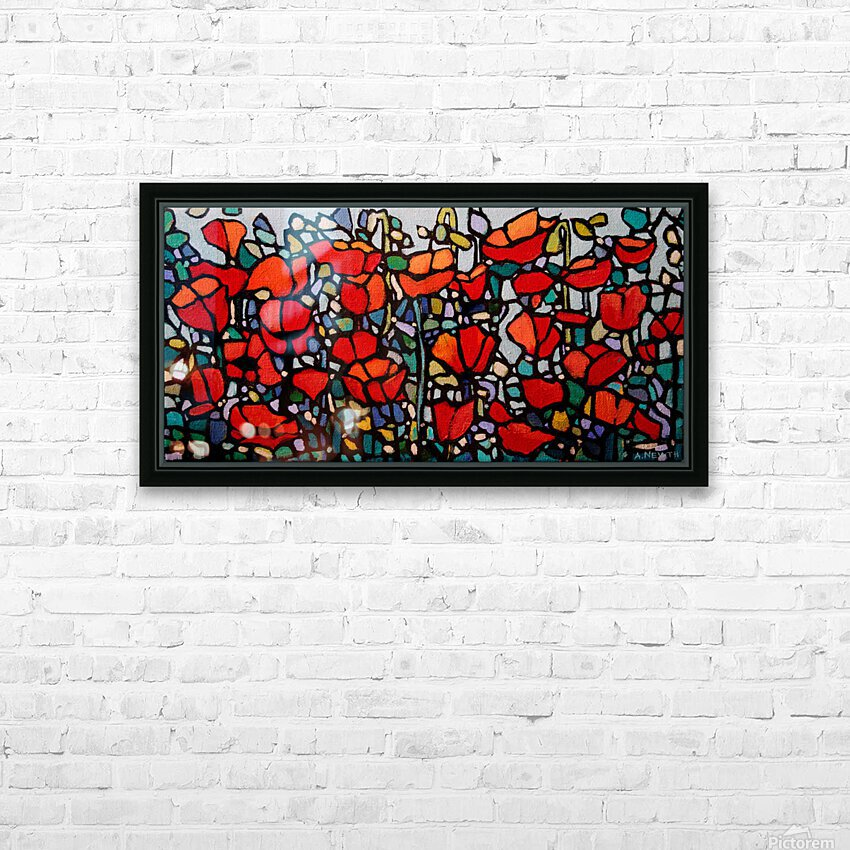 Poppies 1 HD Sublimation Metal print with Decorating Float Frame (BOX)
