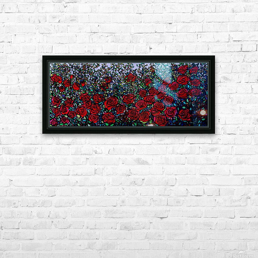 Garden of Roses HD Sublimation Metal print with Decorating Float Frame (BOX)