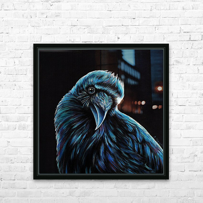 Curious Raven HD Sublimation Metal print with Decorating Float Frame (BOX)